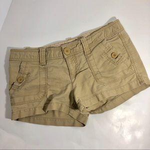 Aeropostale Khaki Shorts 5/6 Adventure Safari Tan